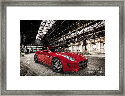 Jaguar F-type - Red - Front View Framed Print