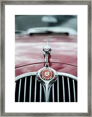 Jaguar Grille Framed Print by Helen Northcott