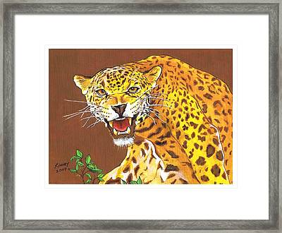 Jaguar Framed Print by Jay Kinney