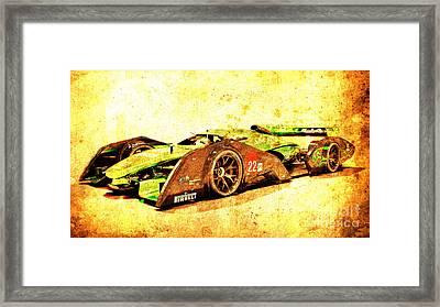 Jaguar Le Mans 2015, Race Car, Fast Car, Gift For Men Framed Print