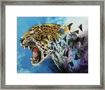 Jaguar Framed Print by Michael Creese