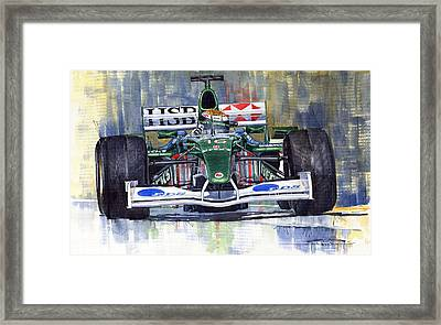 Jaguar R3 Cosworth F1 2002 Eddie Irvine Framed Print by Yuriy  Shevchuk
