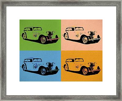 Jaguar Ss1 Pop Art Framed Print