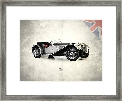 Jaguar Ss100 1936 Framed Print