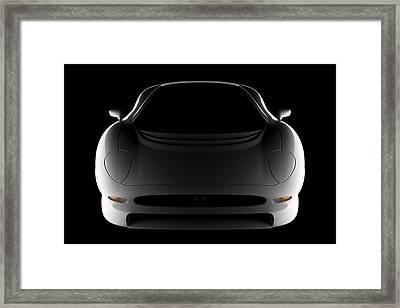 Jaguar Xj220 - Front View Framed Print