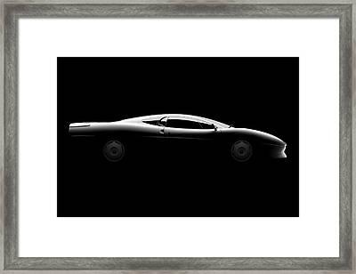 Jaguar Xj220 - Side View Framed Print