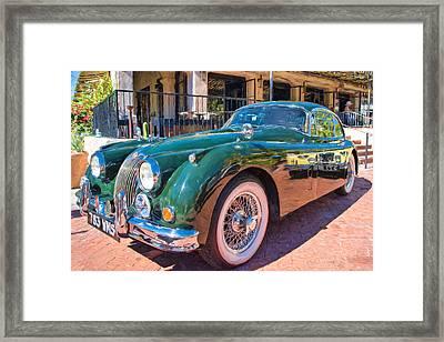 Framed Print featuring the photograph Jaguar Xk Classic by Dan McManus