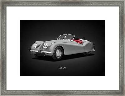 Jaguar Xk120 Framed Print by Mark Rogan