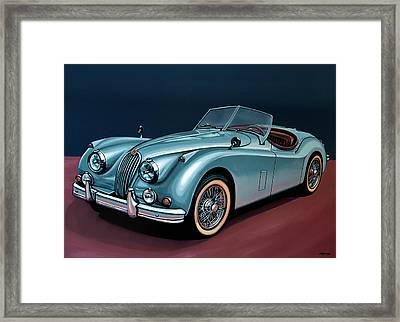 Jaguar Xk140 1954 Painting Framed Print by Paul Meijering