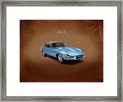 Jaguar Xke Framed Print by Mark Rogan