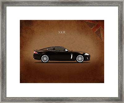Jaguar Xkr Framed Print by Mark Rogan