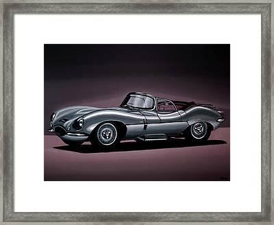 Jaguar Xkss 1957 Painting Framed Print