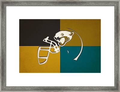Jaguars Helmet Art Framed Print
