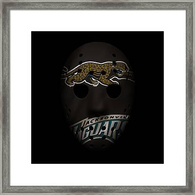 Jaguars War Mask 2 Framed Print