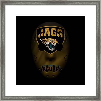 Jaguars War Mask 3 Framed Print