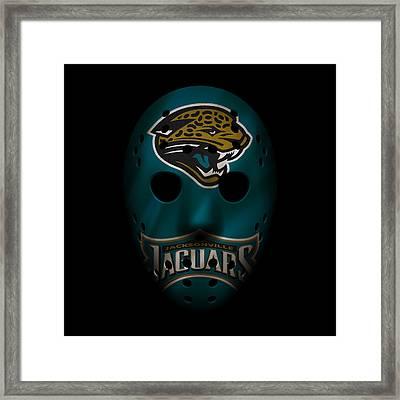 Jaguars War Mask Framed Print