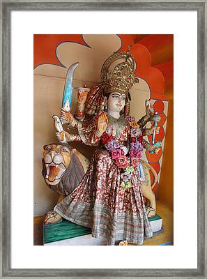 Jai Ma Durga, Rishikesh Framed Print by Jennifer Mazzucco