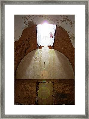 Jail Cell Window At Eastern State Penitentiary Framed Print