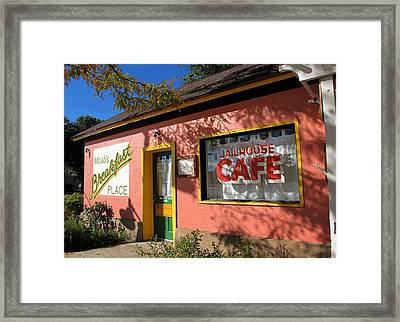 Jailhouse Cafe Moab Utah Framed Print