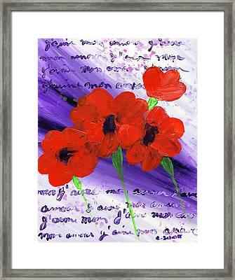 J'aime Mon Amour Framed Print