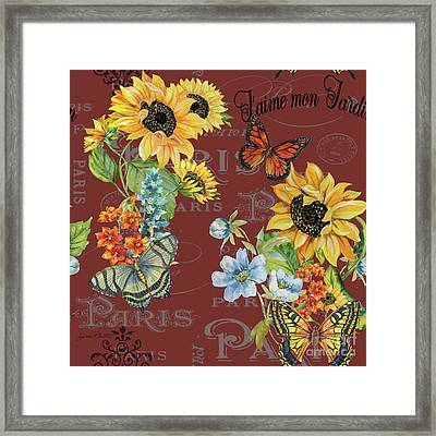 Framed Print featuring the painting Jaime Mon Jardin-jp3988 by Jean Plout