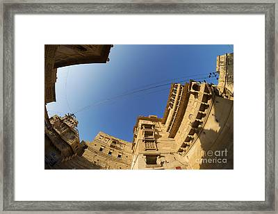 Framed Print featuring the photograph Jaisalmer Fort by Yew Kwang