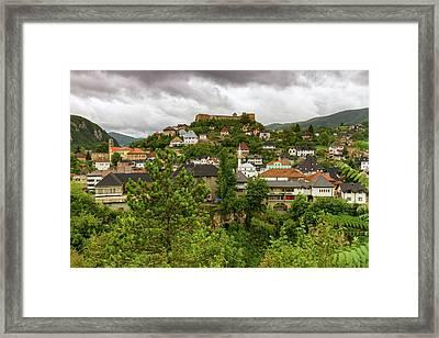 Jajce, Bosnia And Herzegovina Framed Print by Elenarts - Elena Duvernay photo