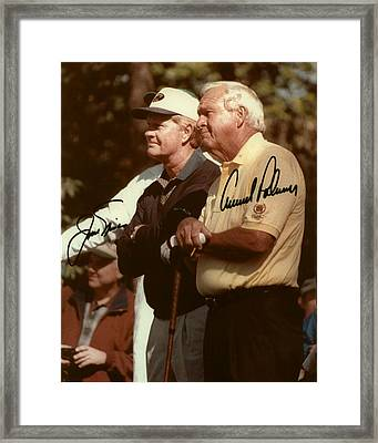 Jakc Nicklaus An Arnold Palmer 2000 Masters Sign Framed Print by Peter Nowell