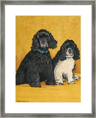 Jake And Lucy Framed Print by Sharon Farber