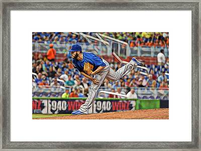 Jake Arrieta Chicago Cubs Pitcher Framed Print by Marvin Blaine