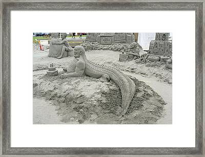 Jake The Alligator Man  Framed Print by Pamela Patch