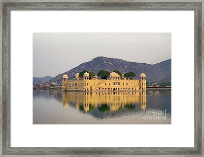 Framed Print featuring the photograph Jal Mahal  by Yew Kwang