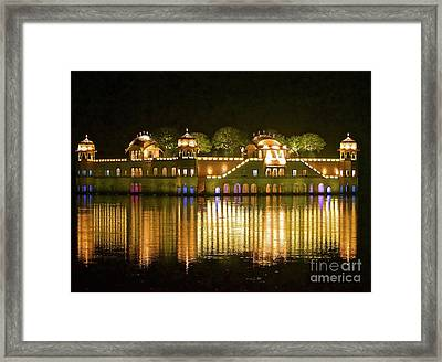 Jal Palace At Night Framed Print