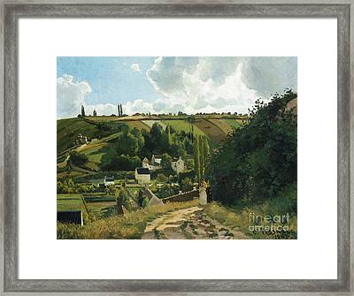 Jalais Hill At Pontoise Framed Print by Camille Pissarro