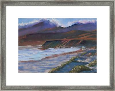 Jalama Beach At Sunset Framed Print by Laurie Paci