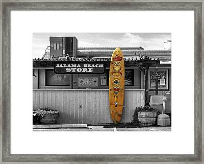 Jalama Beach Store Framed Print by Ron Regalado