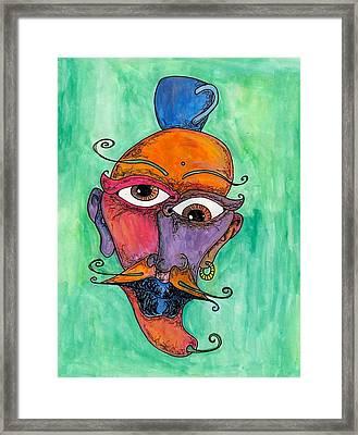 Jalepeno Face Framed Print by Jessica Kauffman