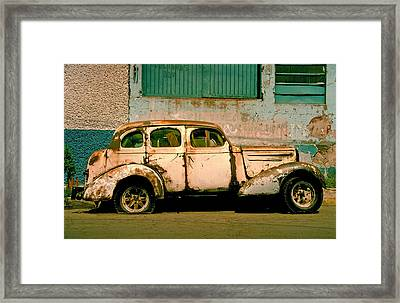 Jalopy Framed Print by Skip Hunt