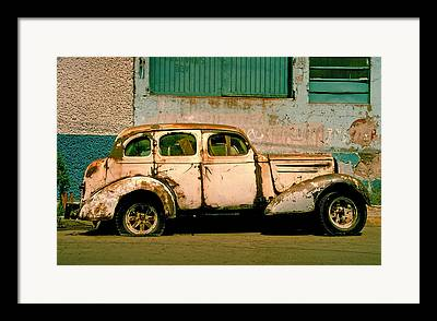 Rusted Cars Framed Prints