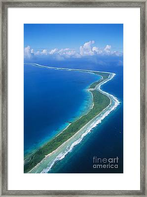 Jaluit Atoll And Lagoon Framed Print by Greg Vaughn - Printscapes