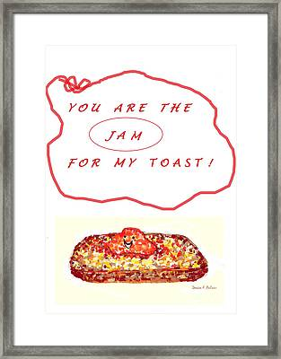 Framed Print featuring the drawing Jam For My Toast by Denise Fulmer