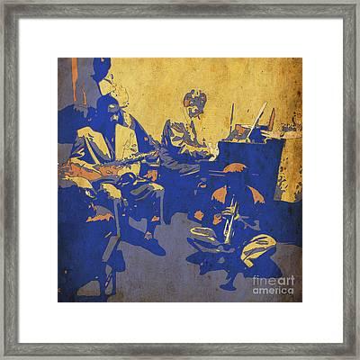 Jam Session 01 - Jazz Musicians Framed Print by Pablo Franchi