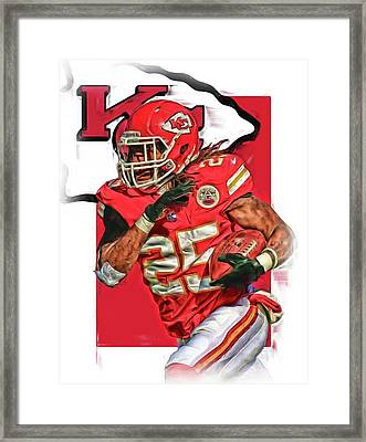 Jamaal Charles Kansas City Chiefs Oil Art Framed Print