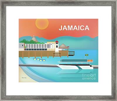 Jamaica Horizontal Scene Framed Print