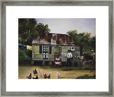 Jamaican Homestead Framed Print by Kim Selig