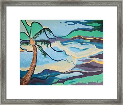 Jamaican Sea Breeze Framed Print by Jan Steinle