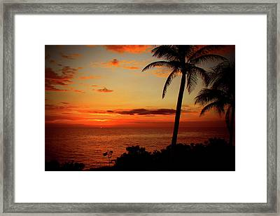 Jamaican Sunset Framed Print by Kamil Swiatek