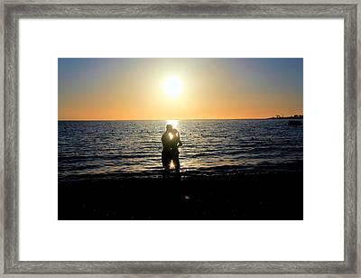 Jamaican Sunset Kiss By Steve Ellenburg Framed Print by Steve Ellenburg