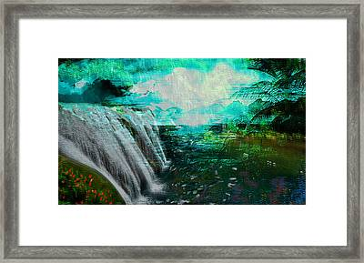 Jamaican Waterfall Framed Print by Paul Sutcliffe