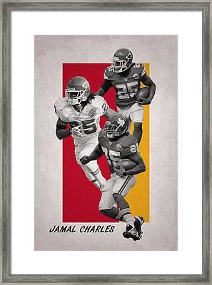 Jamal Charles Kansas City Chiefs Framed Print by Joe Hamilton